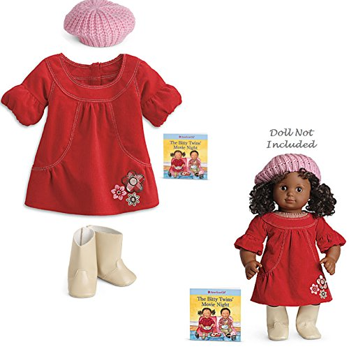 bitty baby twins fall flowers dress for dolls + book