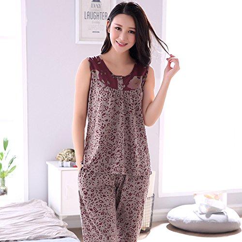 MH-RITA Plus Size M-4XL 100% Algodón Mujer Pijama conjunto floral ...