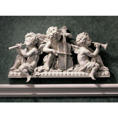Design Toscano Angelic Notes Sculptural Wall Pediment (Set of 2)