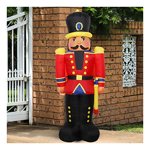 - 6FT Inflatable Christmas Jumbo Toy Soldier Holiday Outdoor Yard Decor LED Lights