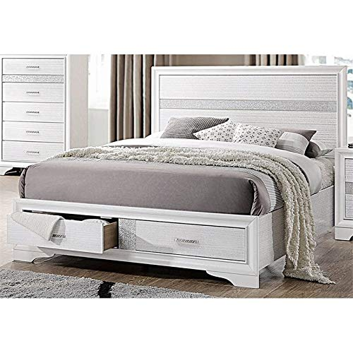 - BOWERY HILL Queen Storage Panel Bed in White