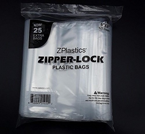 Bigger Pack 250 Zip Lock Bags 6x9 2mil Clear Resealable Plastic Bag by ZPlastics Storage Bags with Zipper: Transparent, Label-Free & Leakproof| Business Use, Any Type of Content