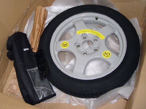 (BMW OEM F25 F26 X3 X4 Spare Wheel & Tire System With Tools Case 18