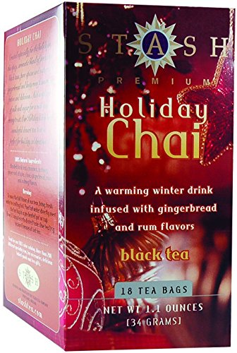 STASH TEA TEA HLDAY CHAI, 18 BG by Stash Tea