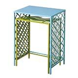 Cape Craftsmen 8SSM035 Evergreen Green And Blue Metal Nested Side Tables (Set of 2)