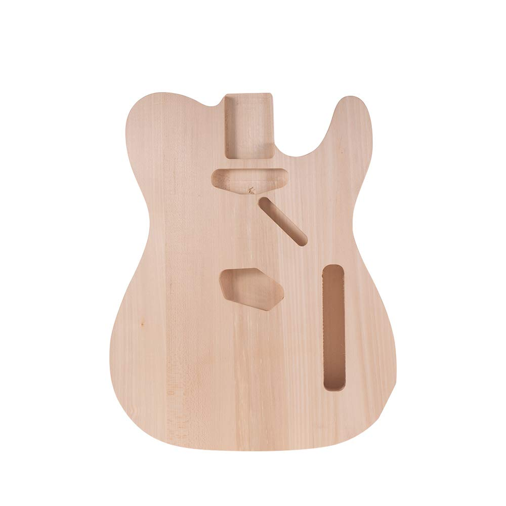 Muslady TL-F Unfinished Electric Guitar Body Blank Guitar Body Barrel DIY Mahogany Wooden Body Guitar Parts Accessories for TELE F Guitar