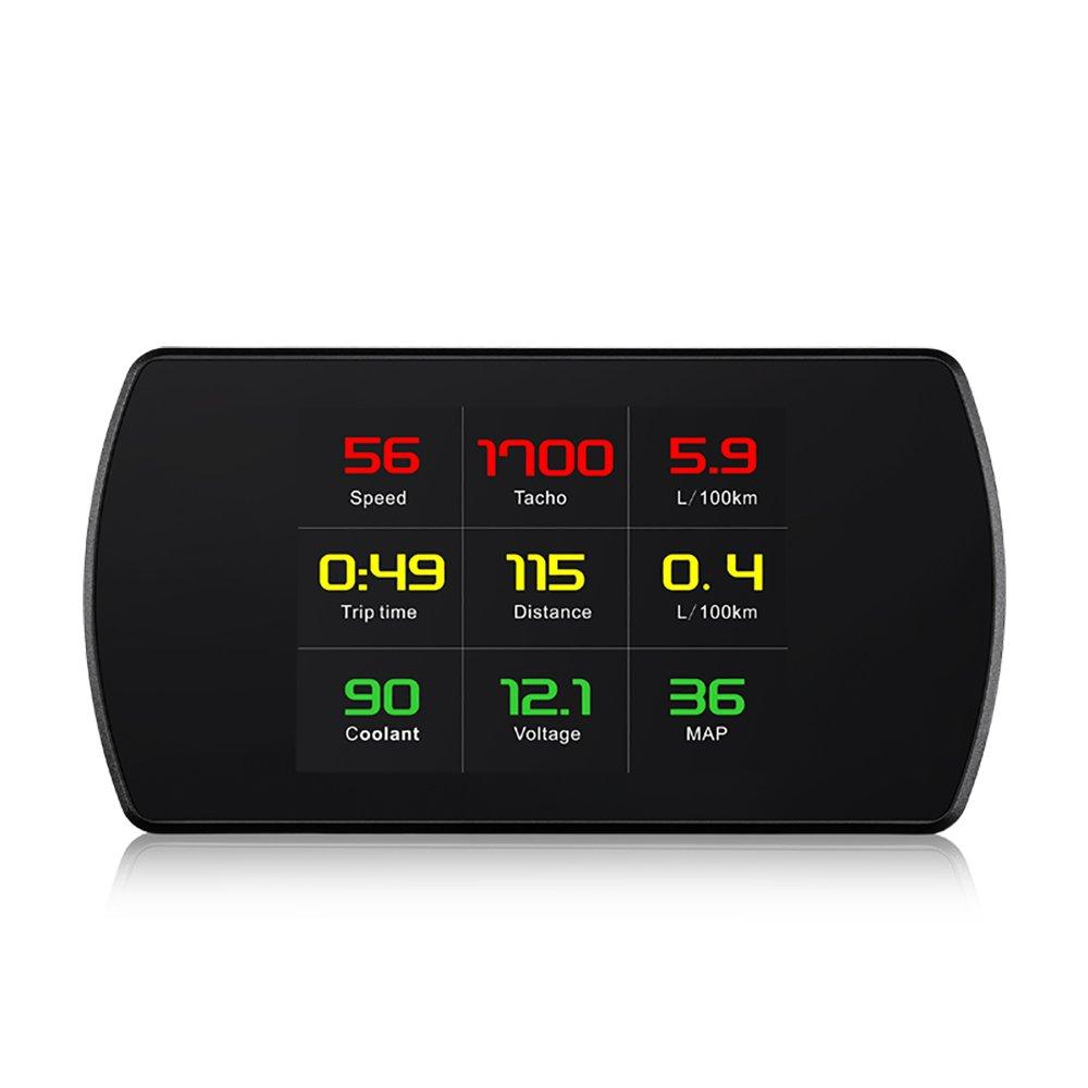 XYCING Heads Up Display Car HUD Smart Digital Speedometer, OBD2 Car Code Reader, OBD On-board Diagnostic Digital HUD Display Speed, Fuel Consumption, Temperature, rpm Alarm - For EUOBD OBDII Cars