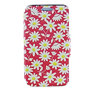 GX Kinston inferior rojo PU del patrón de cuero del caso de cuerpo completo para Samsung i9600 S5
