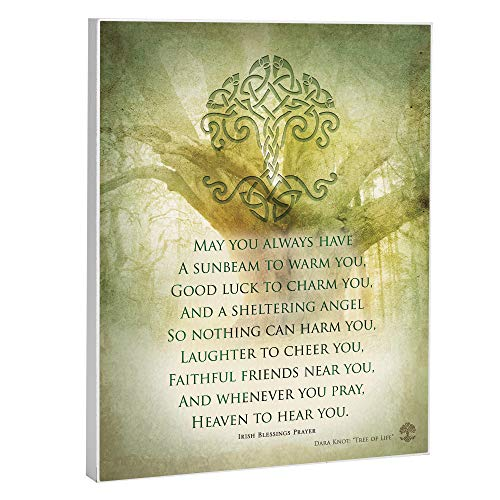 Elanze Designs Irish Prayer 8 x 10 Wood Print Overlay Wall Art Sign Plaque -