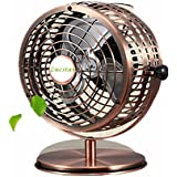 Lucstar Retro USB Fans Personal Vintage Table Desk Art Decoration for Office Home Bedroom Business Gift, Quiet Design 6 Inch