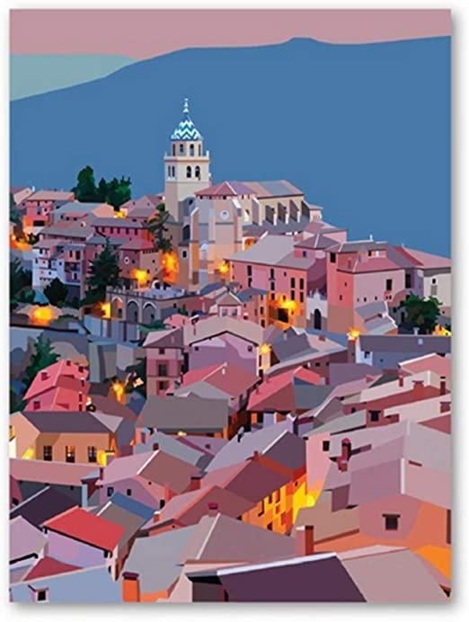 España Poster Wall Art Prints Colorful Artwork Aragon Poster Teruel Art Canvas Painting Spanish Nursery Wall Decor-50x70cmx1pcs -Sin marco: Amazon.es: Bricolaje y herramientas