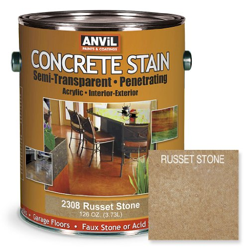UPC 760428230815, Anvil Semi-Transparent Concrete Stain Penetrating Acrylic Interior-Exterior Color Russet Stone - 1 Gallon