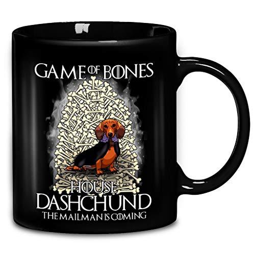 Games Of Bones House Dashchund The Mailman Is Coming Coffee Mug 11oz & 15oz Ceramic Tea -