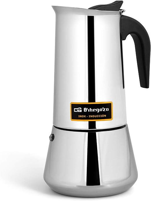Cafetera italiana inox ORBEGOZO KFI1260 | ORBEGOZO 12 tazas ...