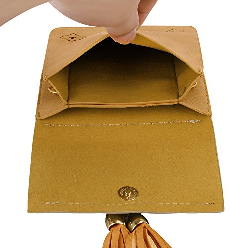 Phone Yellow for Shoulder Girls Wallet Women Crossbody Bags Smartphone Cell Bag Purse fEqYwP87x