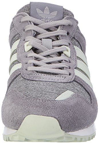 Sneaker Hals Grey Medium Grau ZX Green Low Grey adidas Linen Heather 700 Damen qRxaZXSt
