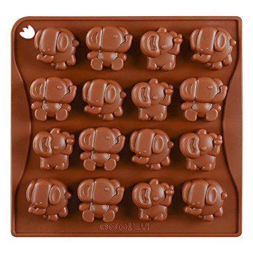 Cute Elephant Silicone Chocolate Mold Fudge Mold Candy Mold Ice Cube (Candy Elephant)
