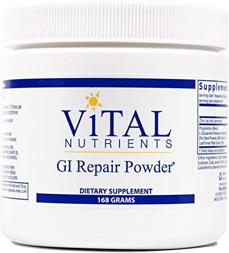 Vital Nutrients - GI Repair Powder - Promotes Healthy Intestinal Function and a Healthy Gastrointestinal Lining - 168 Grams (Palatable Zinc Supplement)