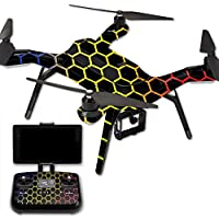 MightySkins Protective Vinyl Skin Decal for 3DR Solo Drone Quadcopter wrap cover sticker skins Primary Honeycomb