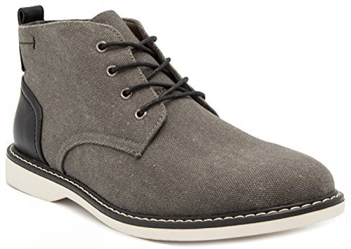 - London Fog Mens Belmont Chukka Boot Grey 11 M US