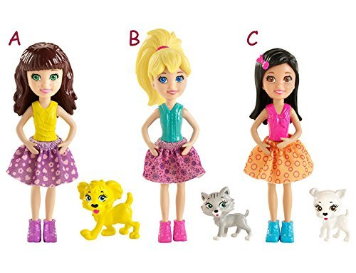 (POLLY POCKET doll & Animals (# BCY85)- 1 doll and 1 pet)