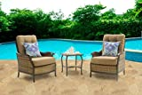 Hanover Hudson Square 3-Piece Outdoor Deep-Seating Lounge Set, Multi For Sale