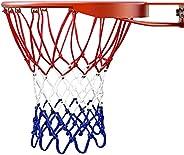 Basketball Net, 43cm Professional Nylon Braided Multicolor Basketball Net for Outdoors Sport