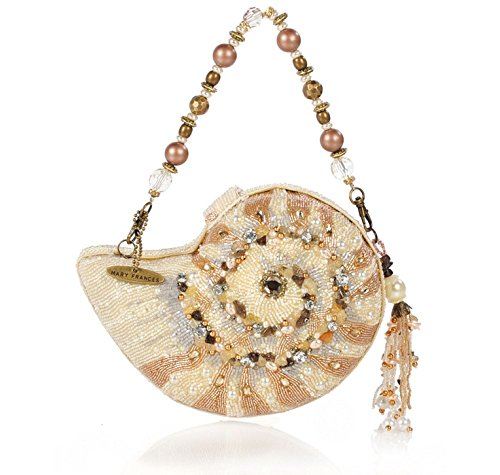 Clutch Frances Shoulder Convertible Hand Nautilus Shell Mary Bag Ocean Sea Beaded Bejeweled gWASBfUq