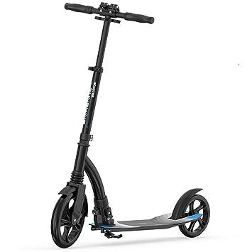 LJHBC Patinete Scooter de Pedal Plegable Rueda Grande de PU ...