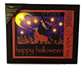 RADIANCE Happy Halloween Witch Way Flickering Light Canvas Display Lights Up Wicked Witch