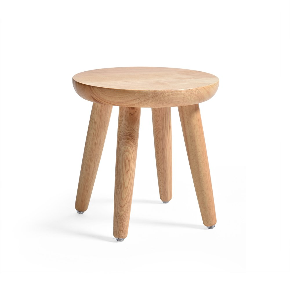 Japanese-style Solid Wood Stool, Creative Round Stool, Small Bench, Table And Stool, Fashion Table Stool, Stool, Dressing Stool, Pure Wood To Create Super Easy 2 Size Options (Color : B) by PM-Stools
