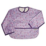 Frenchie Mini Couture Kid's Princess Long Sleeve Coverall with Flip Over Pocket, Purple