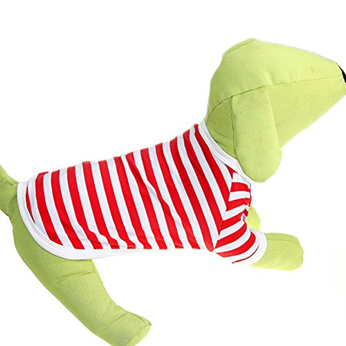 Delight eShop Pet Puppy Small Dog Cat Pet stripe Vest POLO T Shirt Apparel Clothes Summer (XL) (XL) (Winnie The Pooh Vest Disney Costume)
