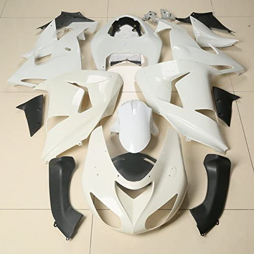 XMT-MOTO Injected Mold Fairing Set fits for Yamaha YZF R6 2003 2004 2005,Unpainted White