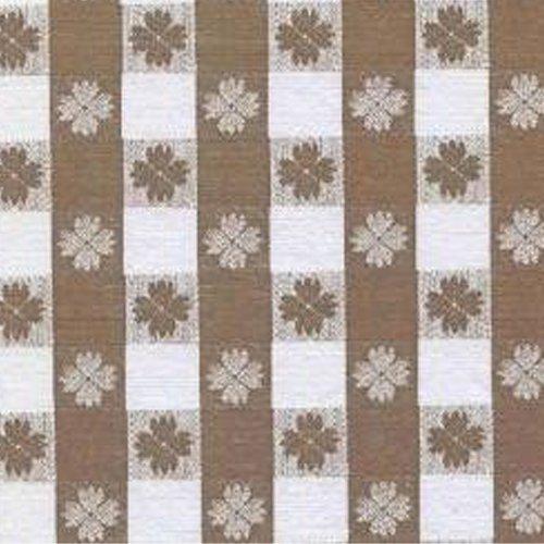 Brown Tavern Check Series F0247 Vinyl Tablecloth 54