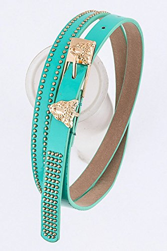 Trendy Fashion Jewelry Leopard Buckle Belt By Fashion Destination | (Monet Costumes Jewelry Company)