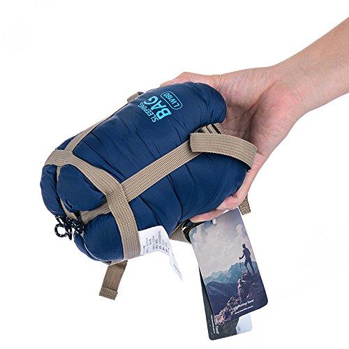 Petite Self Inflating Sleeping Pad (Ezyoutdoor Ultra light small Portable Envelope sleeping bag Spring autumn for Outdoor camping Travel Hiking Bivouac Picnic (deep blue))