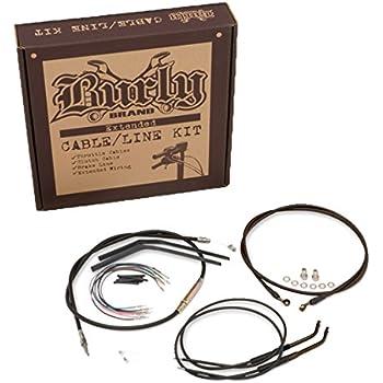 Ape Hanger Cable//Brake Kit B30-1014 Burly Brand Black 16/&Prime