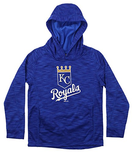 Outerstuff MLB Youth's Performance Fleece Primary Logo Hoodie, Kansas City Royals X-Large (18)
