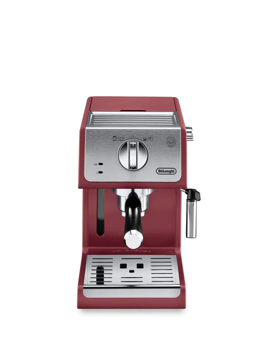De'Longhi ECP3220R 15 Bar Espresso Machine with with Advanced Cappuccino System, Red by De'Longhi
