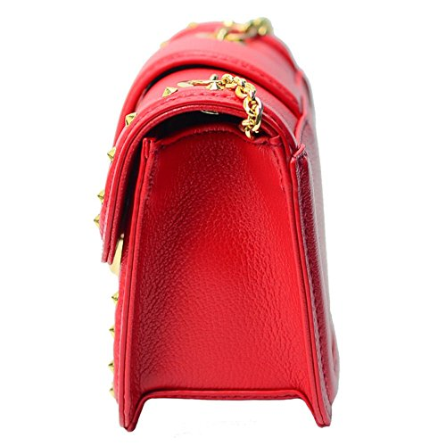 Handbag Layer First Of Wild Shoulder Bag Women's Portable Leather Red The Version Handbag Fashion Bag Of Shoulder Diagonal Leather Square Korean Bag Small 5g88qwz
