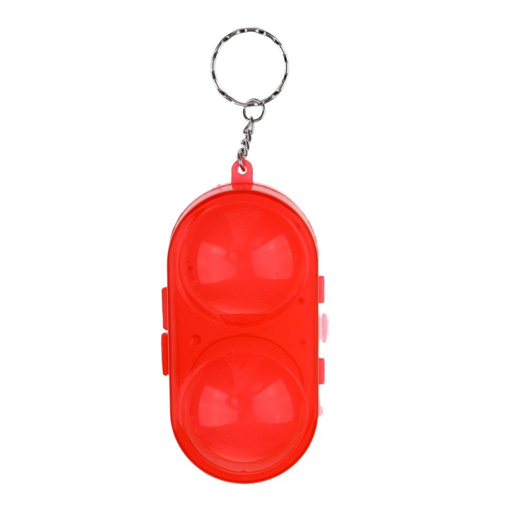 Sharplace Boîte De Rangement avec Porte-Clé pour 2 Balles De Tennis De Table/Ping-Pong en Plastique 5 cm Orange