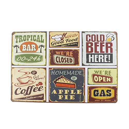 12x8 Inches Pub,bar,home Wall Decor Souvenir Hanging Metal Tin Sign Plate Plaque (Wall Collage)