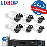 Security Camera System Wireless,NexTrend 8CH 1080P NVR Camera System with 1TB Hard Drive,6 IP Security Cameras 2.0MP with Night Vision Waterproof, Plug n Play Indoor Outdoor Video Surveillance System