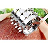 Conversancy® Meat tenderizer needle roller Tender Meat Professional Meat Tenderizer with Stainless Steel for Kitchen Tools