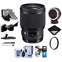 Sigma 85mm f/1.4 DG HSM ART Lens for Canon EOS DSLRs - Bundle With 86mm UV Filter, LensAlign MkII Focus Calibration System, Peak Lens Changing Kit Adapter, Software Package, And More