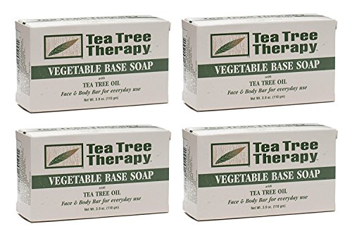 (Tea Tree Therapy, Soap Bar, Vegetable Base, 3.9 oz (4-Pack))