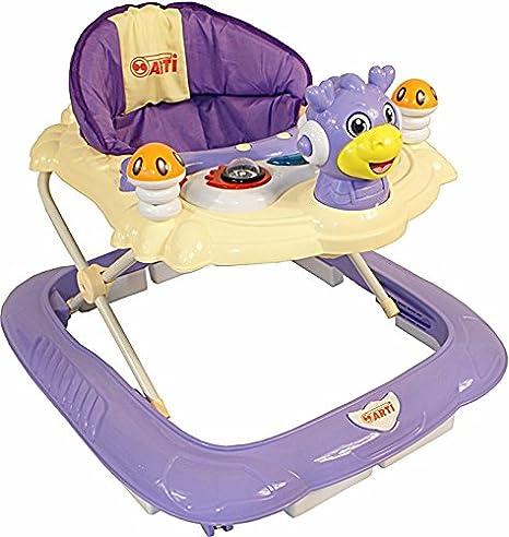 Andador para bebés regulable en altura con juguetes y sonido ARTE ...