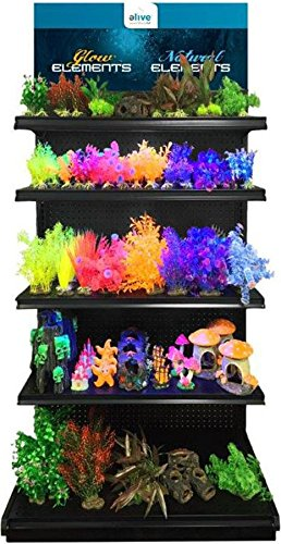ELIVE 034283 Glow Elements Plants Display with GI Led Strip, 140Piece by Elive