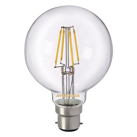 Sylvania 0027171 Toledo Retro G80 lámpara LED, Vidrio, Home, B22, Luz 4